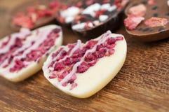 De Harten van de Chocolade van de valentijnskaart Stock Foto's