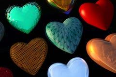 De Harten van de Dag van de valentijnskaart Stock Foto's