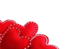 De Harten van de Dag van de valentijnskaart Royalty-vrije Stock Afbeeldingen