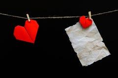 De Harten van de Dag van de valentijnskaart Stock Afbeeldingen