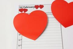 De Harten van de Dag van de valentijnskaart Royalty-vrije Stock Foto