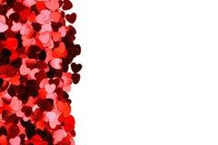 De Harten van de Dag van de valentijnskaart Stock Afbeelding