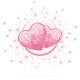 De Harten van de Dag van valentijnskaarten royalty-vrije illustratie