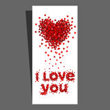 De harten van de de dagkaart van de valentijnskaart Royalty-vrije Stock Afbeeldingen