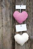 De harten van de doek Stock Afbeelding