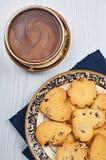 De Harten van de droog-Amerikaanse veenbeszandkoek met Koffie Royalty-vrije Stock Fotografie