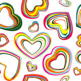 De harten van de kleur royalty-vrije illustratie