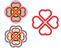 De harten van de kleur vector illustratie
