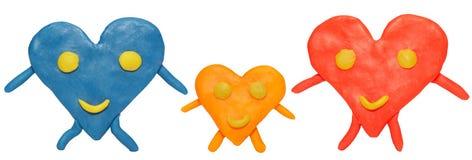 De harten van de kleur Stock Foto's
