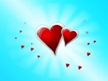 De harten van de liefde Stock Afbeelding