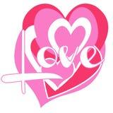 De Harten van de liefde Royalty-vrije Stock Afbeelding