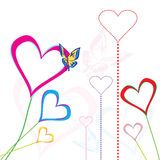 De harten van de liefde vector illustratie