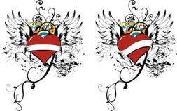 De harten van de liefde royalty-vrije illustratie