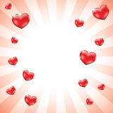De achtergrond van de Harten van de liefde Stock Fotografie