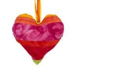 De harten van de liefde op witte achtergrond stock foto