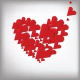 De harten van de origami. De dagkaart van de valentijnskaart Royalty-vrije Stock Foto
