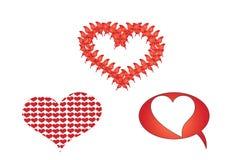 De harten van de valentijnskaart vector illustratie