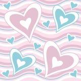 De harten van de valentijnskaart stock illustratie