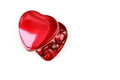 De harten van de valentijnskaart Stock Afbeelding