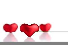 De harten van de valentijnskaart Stock Foto's