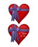 De Harten van de valentijnskaart of 4Th van Juli Stock Foto's