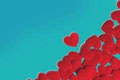 De harten van de valentijnskaart Royalty-vrije Stock Foto's