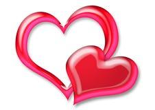 De Harten van de valentijnskaart Royalty-vrije Stock Foto