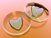 De harten van de valentijnskaart, vakantieliefde. Stock Fotografie