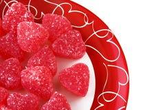 De Harten van de Valentijnskaart van het suikergoed Stock Afbeeldingen