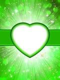 De groene Dag St.Valentine van de valentijnskaart. EPS 10 Royalty-vrije Stock Foto's