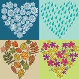 De harten van de vier seizoenen royalty-vrije illustratie