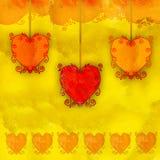 De harten van Grunge stock illustratie