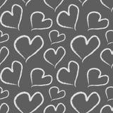 De harten van Grungevalentine Naadloos vectorpatroon Royalty-vrije Stock Afbeelding