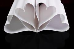 De harten van het document Stock Foto's