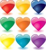 De harten van het glas Royalty-vrije Stock Afbeeldingen