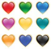 De harten van het glas Vector Illustratie