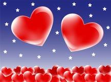De harten van het paar stock illustratie