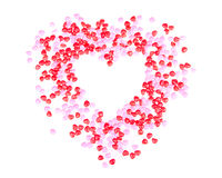 De harten van het suikergoed in de vorm van een hart Stock Afbeelding
