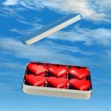 De Harten van het suikergoed in Tin Stock Fotografie