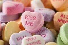 De Harten van het suikergoedgesprek voor de Dag van Valentine Royalty-vrije Stock Foto