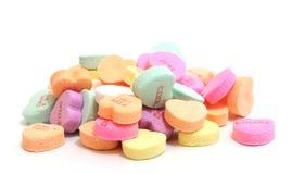 De Harten van het valentijnskaartensuikergoed Stock Afbeeldingen