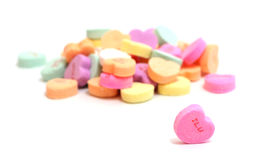De Harten van het valentijnskaartensuikergoed Stock Fotografie