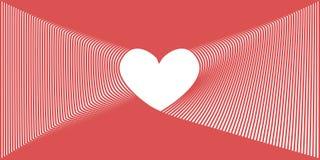 De harten van de patroonliefde met roze kleur stock illustratie