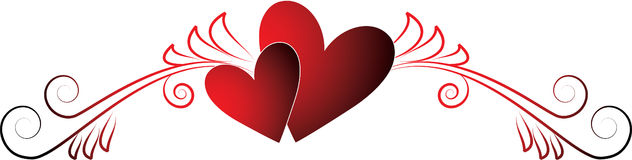 De harten van valentijnskaarten vector illustratie