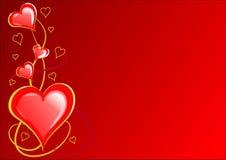 De Harten van valentijnskaarten Stock Afbeelding