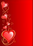 De Harten van valentijnskaarten Royalty-vrije Stock Foto