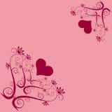 De harten van valentijnskaarten. Stock Foto's