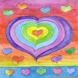 De harten van Valentin vector illustratie