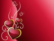 De hartenachtergrond betekent Romantiekhartstocht en Liefde Royalty-vrije Stock Fotografie
