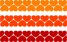 De hartenachtergrond van de valentijnskaart Stock Fotografie